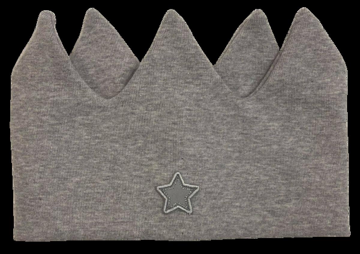 Kivat pannebånd krone - grå