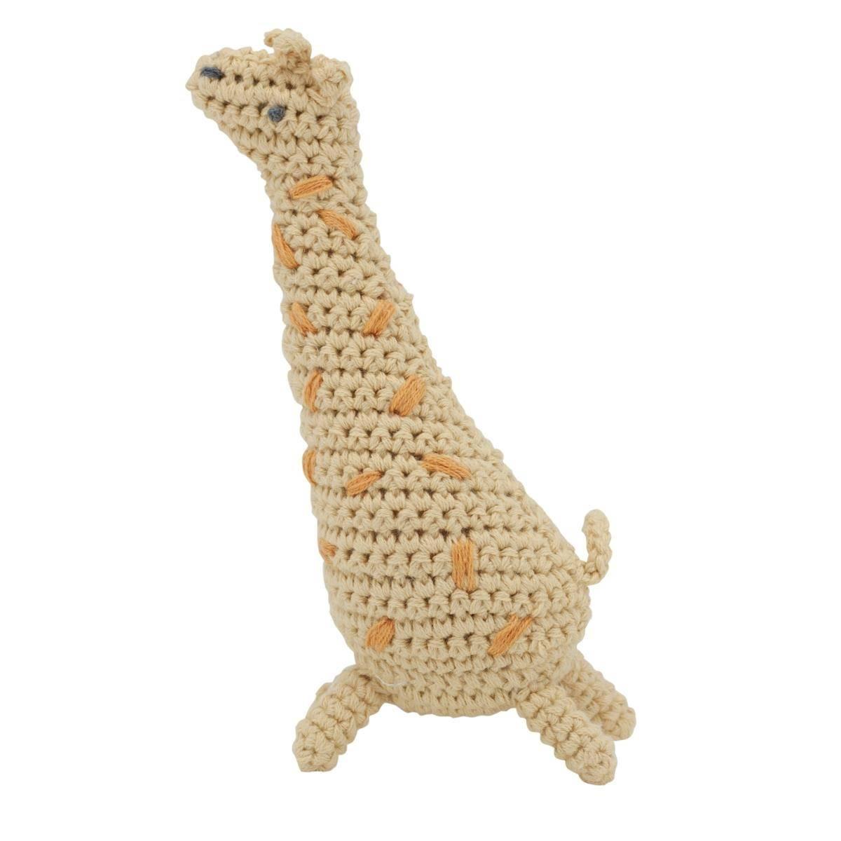Sebra heklet rangle - giraffen Glenn