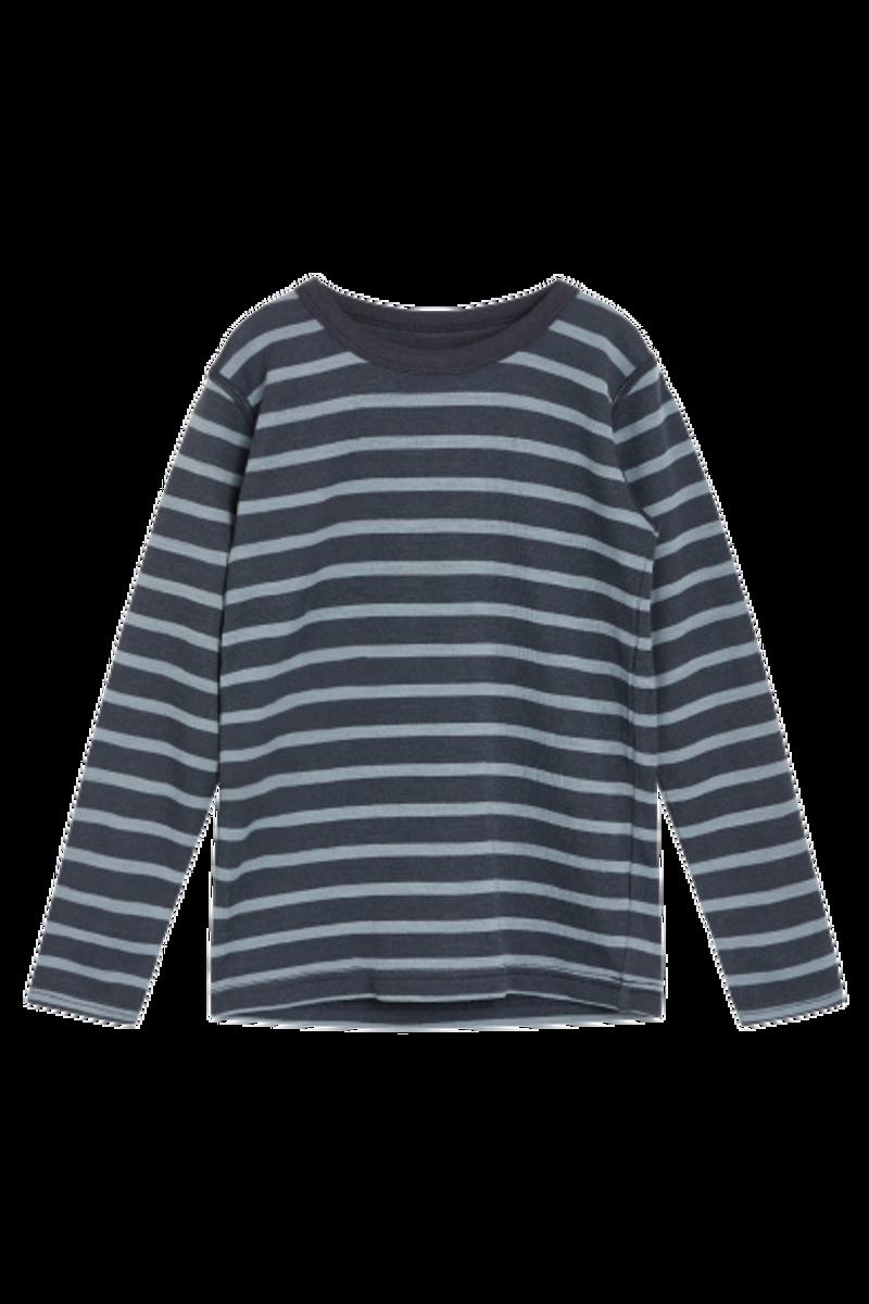 Hust & Claire Abba Stripe ull/bambus trøye - ombre blue