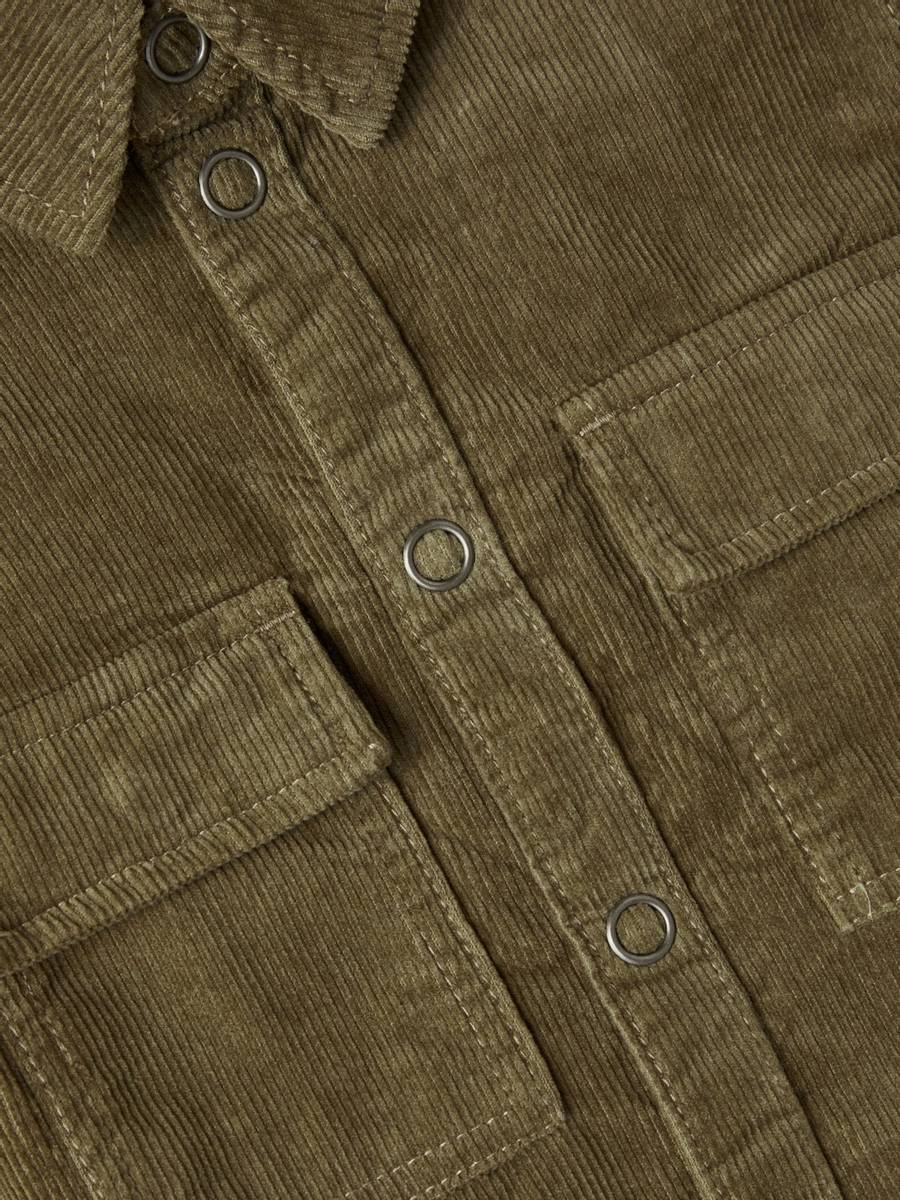 Name It Bato Cord skjorte - stone gray