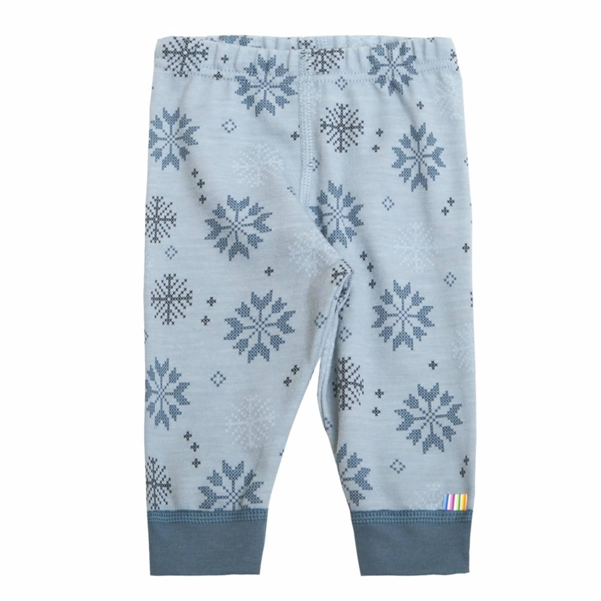 Joha Snow Flocks ull/bomull leggings - blå